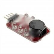 EB LED De Alarma De Baja Presión Que Pueden Indicar Lipoions Automáticamente La Tensión De Celda - Rojo