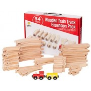 Deluxe Wooden Train Tracks Set For Kids