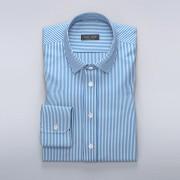 Tailor Store Randig skjorta i vitt och blått