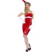 Costum Craciunita Adulti Pin-up Miss Santa