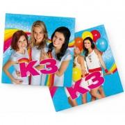 Studio100 40x Papieren servetjes prinsessen blauw thema feestartikelen 33 x 33 cm