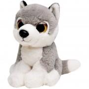 Nature Plush Planet Knuffel wolf grijs 13 cm knuffels kopen