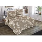 Set de Cuvertura dubla de pat cu 2 fete de perna Valentini Bianco Nelly Brown