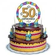 Taart kaart 50 jaar Gefeliciteerd luxe