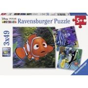 PUZZLE IN CAUTAREA LUI NEMO 3x49 PIESE Ravensburger
