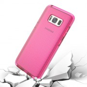 Samsung Galaxy S8 Plus Case, Basketball Texture Anti-collision TPU Protective Case(Pink)