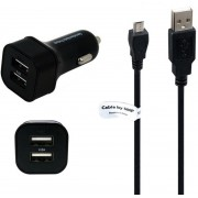 4,8A Autolader. 2,2 m Micro-USB kabel, geschikt voor CAT Caterpillar. o.a. CAT B10 B15 B15Q B25 B30 B100 S30 S40 S50 S60