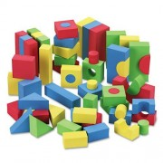 Chenille Kraft® - WonderFoam Blocks, Assorted Colors, 68/Pack - Sold As 1 Pack - Promotes learning
