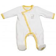 Sauthon Pyjama velours blanc/jaune BABYFAN