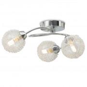 vidaXL Taklampa med 3 LED-glödlampor G9 120 W