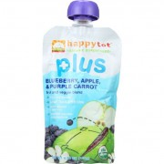 Happy Tot Baby Food - Organic - Plus - Blueberry Apple and Purple Carrot - 4.22 oz - Case of 16
