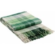 Patura lana merinos Valentini Bianco Elf2 140 x 200 cm verde