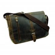 LandLeder valódi bőr táska - Messenger Bag XL - 1003