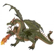 Papo Two Headed Dragon Figure, Multicolor Toy (36019)