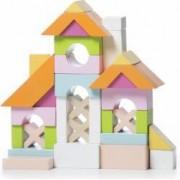 Jucarie din lemn Cubika Set constructii Casuta