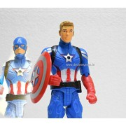 Decor Express Captain America Superhero Avengers Action Figure Toy for Boys, 30cm (with Dual face) and a Free Gift