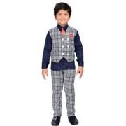 AJ Dezines Kids Party Wear Blue Suit Set for Boys
