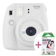 Fujifilm Instax Mini 9 Instant Camera W/ Film - Rook Wit