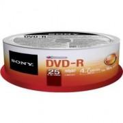 Medii de stocare sony Sony DVD-R 4,7GB 16X CAKE 25 PCS (25DMR47SP)