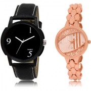 The Shopoholic Black Rose Gold Combo Treny and Precious Black And Rose Gold Dial Analog Watch For Boys And Girls Women Watches In
