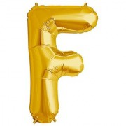 Stylewell 16 Inch Alphabet (F) Soild (Golden) Color 3D Foil Balloons For Birthday And Anniversary Parties Decoration