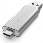 Card Reader Satechi ST-TCCRAS, 1 x USB 3.0, USB Type-C (Argintiu)