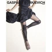 Gerbe Elegant strumpbyxa med mönster i over knee-look Precious från Gaspard Yurkievich with Gerbe au naturel-noir 1