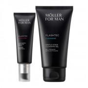 Anne Moller For Man Flashtec Detox Gel Cream 50ml Set 2 pezzi
