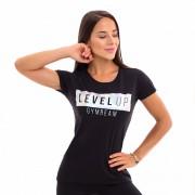 GymBeam Ženska majica Level Up Black S