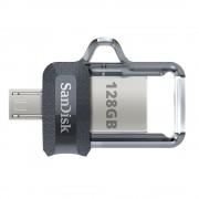 Stick Memorie Sandisk Ultra Dual Drive m3.0 128 GB cu USB 3.0 si MicroUSB