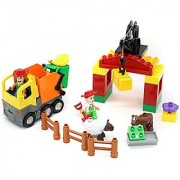 Little Treasures Farm House - 36Pcs building bricks set for preschoolers (Duplo compatible)
