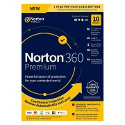 Norton 360 Premium - 10Geräte - 1 Jahr - Windows - Mac - Android - iOS -75GB Cloud-Speicher