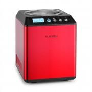 Klarstein Vanilla Sky fagylaltkészítő gép, kompresszor, rozsdamentes acél, 2l, 180 W, piros (TK49-Vanilla-Sky-R)