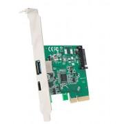 IO Crest Driver dúplex Completo, USB-C 1 Puerto USB-A 1 Puerto