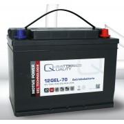 Batería de gel 12 Voltios 70 Amperios Q-Batteries 12GEL-70 308mm x 175mm x 225mm