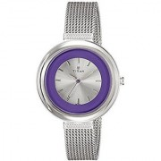 Titan Quartz Purple Round Women Watch 2482SM01