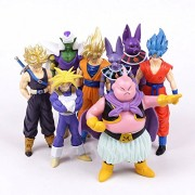Smart Buy 8Pcs/Set Dragon Ball Z Super Saiyan Goku Trunks Vegeta Champa Beerus Piccolo Majin Buu PVC Figures Collectible Model Toys 13-16Cm