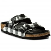 Чехли BIRKENSTOCK - Arizona 1001217 Check Black/White
