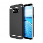 Funda Case Para Samsung Galaxy S8 Plus Protector Carcasa Con Aspecto Cromado Y Textura Satinada - Negro