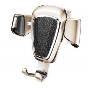 BASEUS Metal Gravity Car Air Vent Bracket Mount for iPhone Samsung Huawei etc - Champagne Gold Color