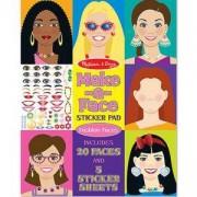 Детски креативен комплект - Промени лицето със стикери - 14195 - Melissa and Doug, 000772141956
