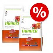 Trainer Natural Dog Set risparmio! 2 x 12 kg Natural Trainer Medium & Maxi - Maxi Adult Prosciutto Crudo & Riso