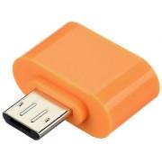Mini OTG Adopter for Micro USB Mobile Phones (Saffron Color) by KSJ Accessories