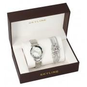 SKYLINE dámská dárková sada stříbrné hodinky s náramkem 2950-12