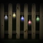 Dekoratívna solárna žiarovka do záhrady