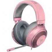 Слушалки Razer Kraken - Quartz, микрофон, розови