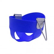 MagiDeal High Quality Children High Back Full Bucket Swing Seat with Metal Triangle Playground Backyard Outdoor Fun Toy Blue