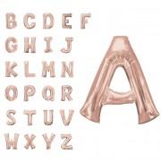 Liragram Globo de letra gigante rosa dorado de 86 cm - Letra G