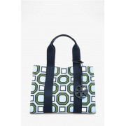 Tory Burch Tote Bag in Canvas Stampa Geometrica taglia Unica