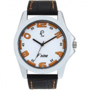 Fnine mens watches stylish rim model white dial colour stitching combination